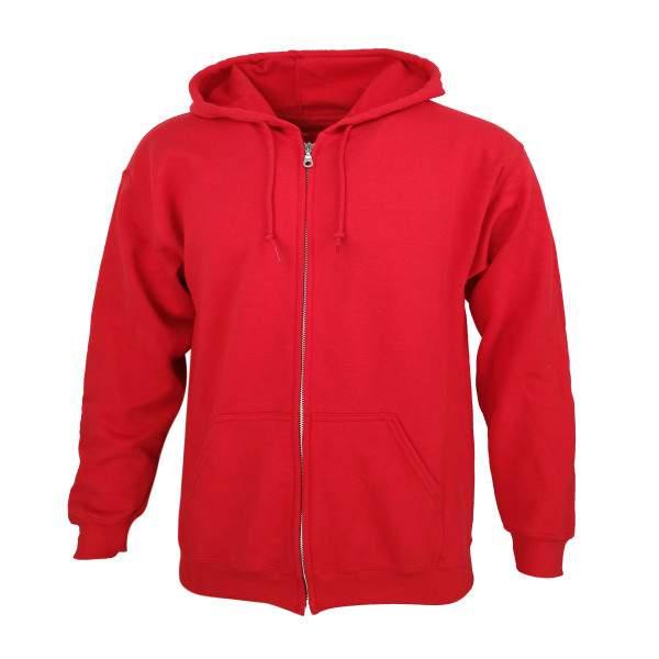 Dressa Vintage cipzáros pamut kapucnis pulóver - piros