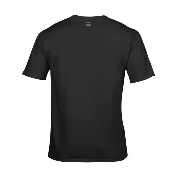 Dressa Work környakú rövid ujjú pamut póló - fekete