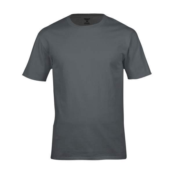 Dressa Work környakú rövid ujjú pamut póló - szürke