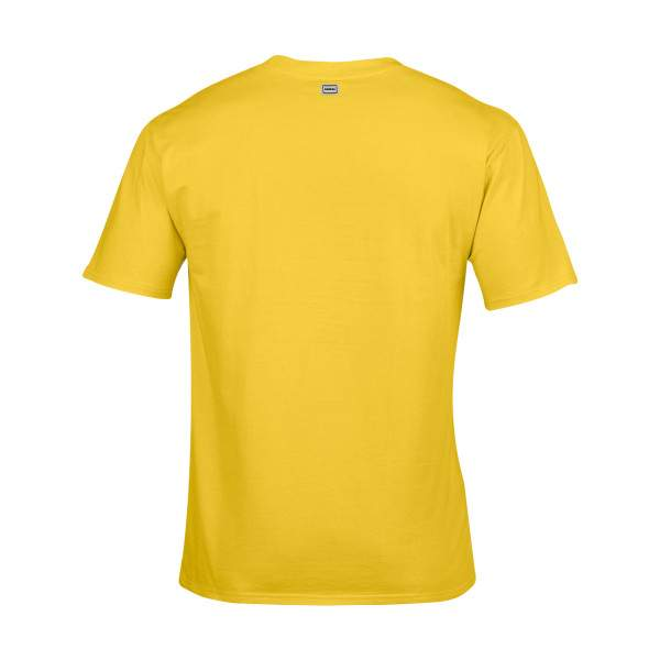 Dressa Work környakú rövid ujjú pamut póló - sárga