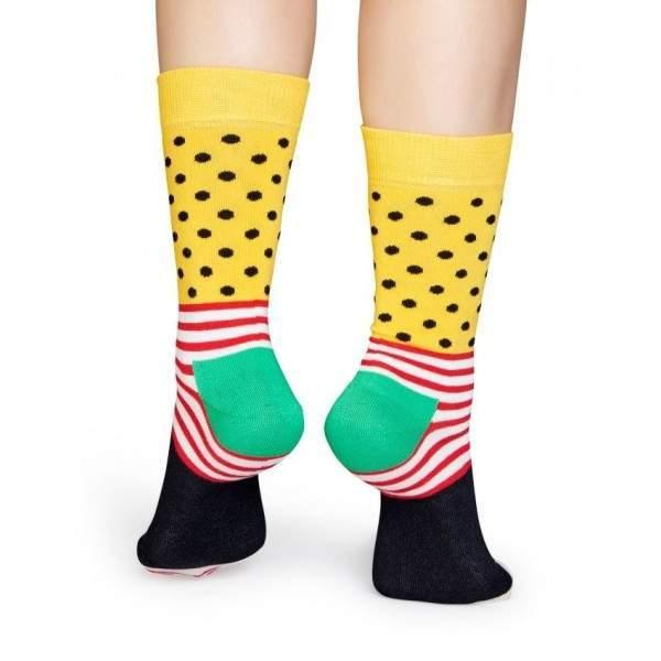 Happy Socks SDO01 csíkos-pöttyös mintázatú zokni