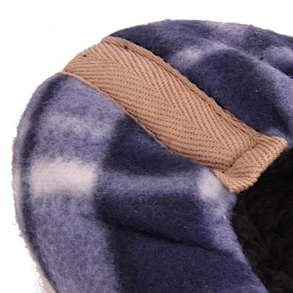 Fashion Trade férfi bélelt kockás mamusz - kék