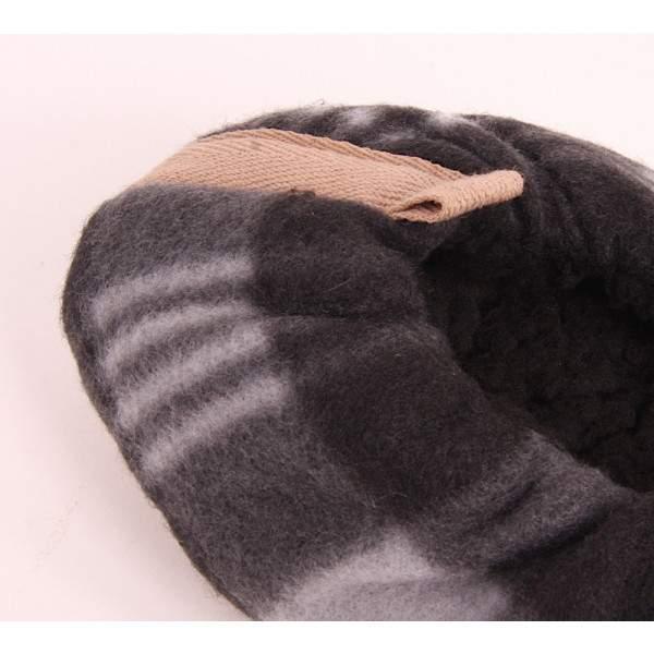 Fashion Trade férfi bélelt kockás mamusz - szürke