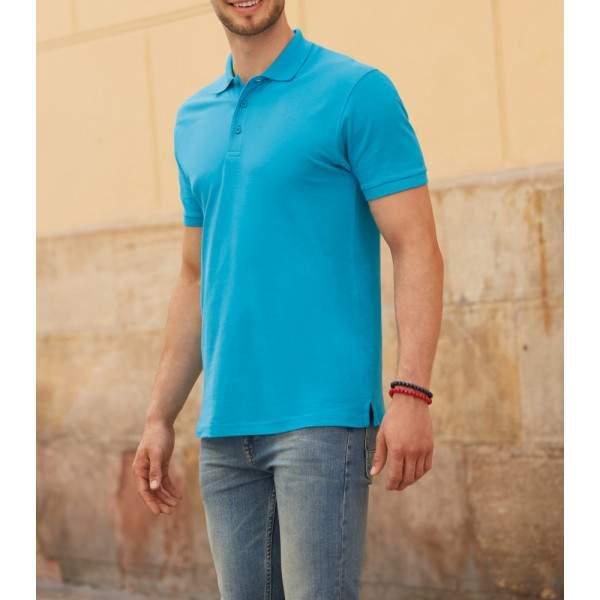 25200f1d71 Fruit of the Loom 63218 Premium férfi galléros rövid ujjú póló ...