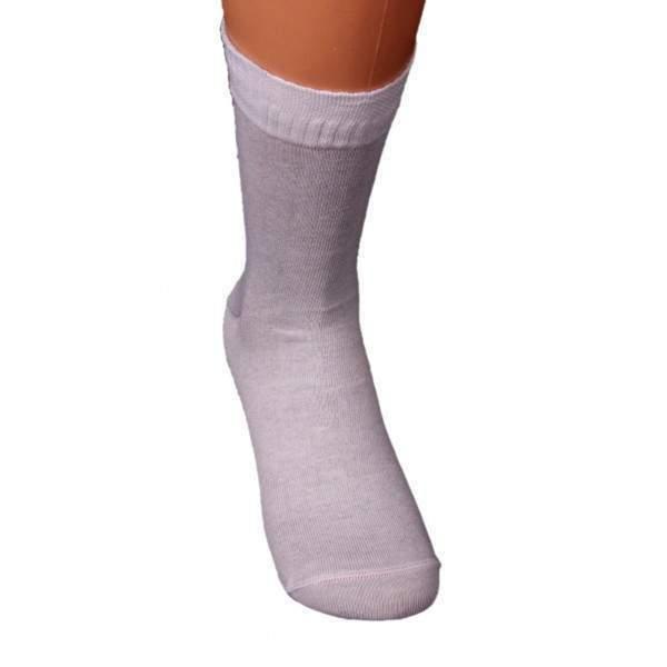Dressa ezüstszálas gumi nélküli zokni - fehér