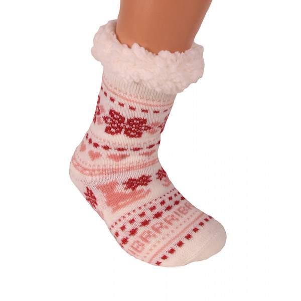 HDI korcsolyás gyerek mamusz zokni - fehér
