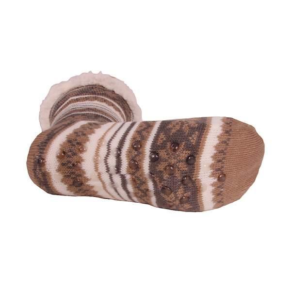 HDI norvégmintás férfi mamusz zokni - bézs