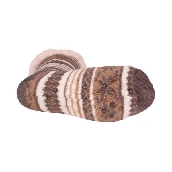 HDI norvégmintás férfi mamusz zokni - szürke