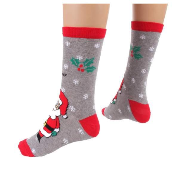 HDI Santa Claus mintás frottír zokni