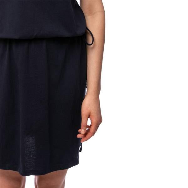 Heavy Tools Vixi női v-nyakú pamut ruha - sötétkék