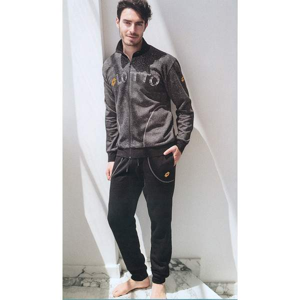 Lotto LA6001 férfi pamut pizsama - fekete
