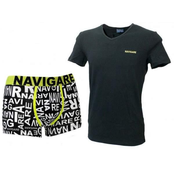 Navigare 11587 férfi pamut boxer és póló