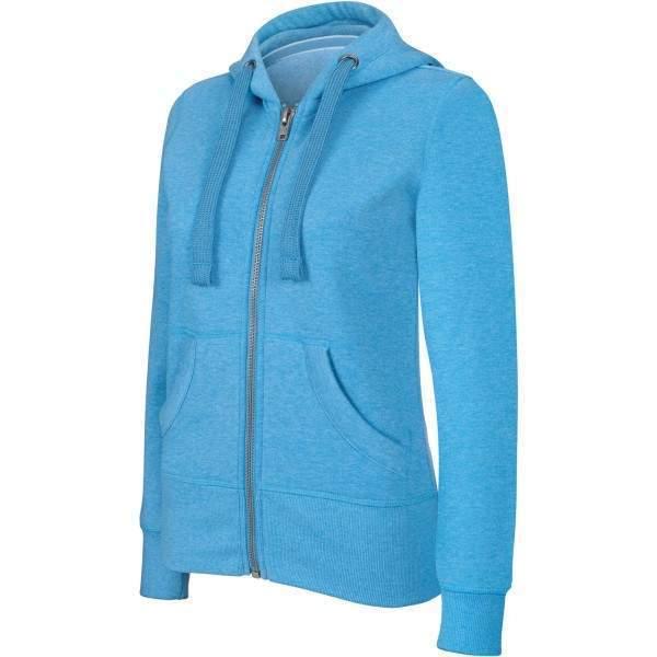 Kariban K461 Melange női cipzáros kapucnis pulóver