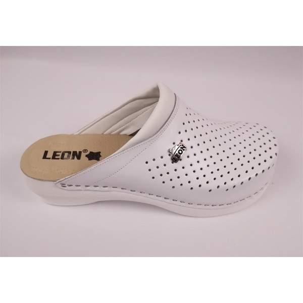 Leon PU100 női bőr klumpa - fehér