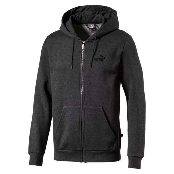 Puma Ess FZ Hoody FL bélelt cipzáros pulóver - sötétszürke