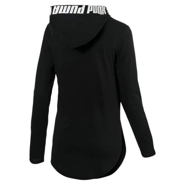 Puma Modern Sports női kapucnis hosszú ujjú póló - fekete