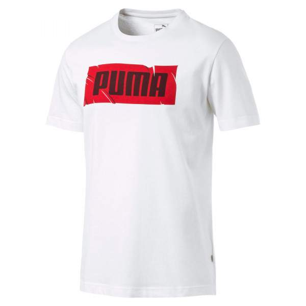 Puma Wording Tee férfi póló - fehér