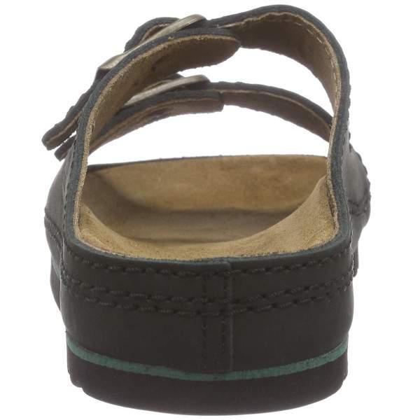 Scholl Airbag unisex bőr papucs - fekete
