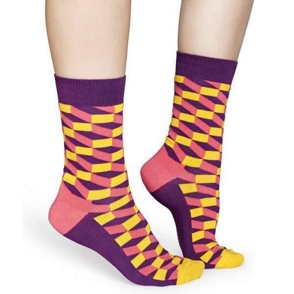 Happy Socks FIO01 optikai csalódás mintájú zokni