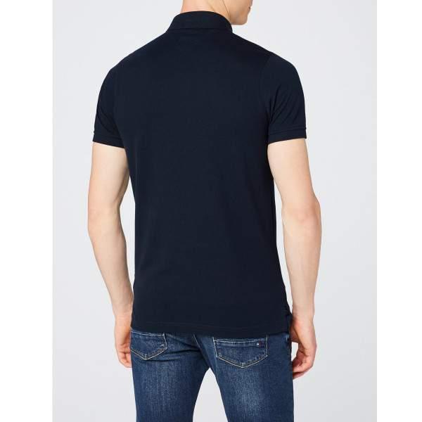 Tommy Hilfiger Core Tommy galléros férfi piké póló - sötétkék