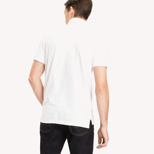 Tommy Hilfiger 50/2 Performance galléros férfi piké póló - fehér