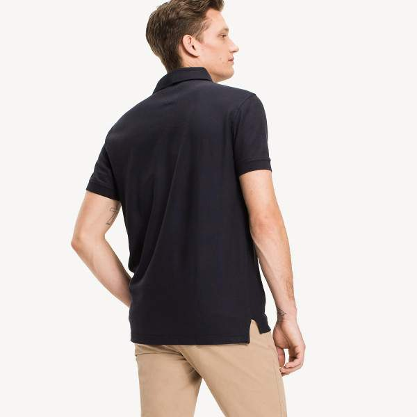 Tommy Hilfiger 50/2 Performance galléros férfi piké póló - sötétkék