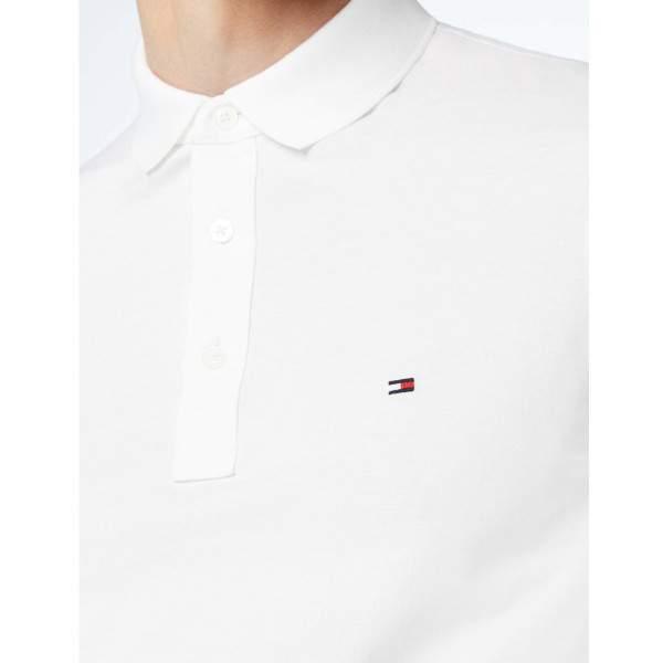 Tommy Hilfiger Core Tommy galléros férfi piké póló - fehér