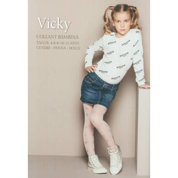 Bellissima Vicky szív és rombusz mintás gyerek harisnyanadrág